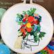 Rainbow Bouquet Blonde Hair Embroidery
