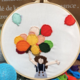 Girl Holding Colorful Balloons Embroidery