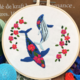 Floral Whales and Red Flowers Embroidery
