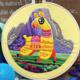 Funny Llama Skipping Embroidery
