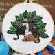 Five Cats with Plants Embroidery