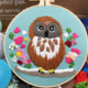 Owl on Branches Embroidery