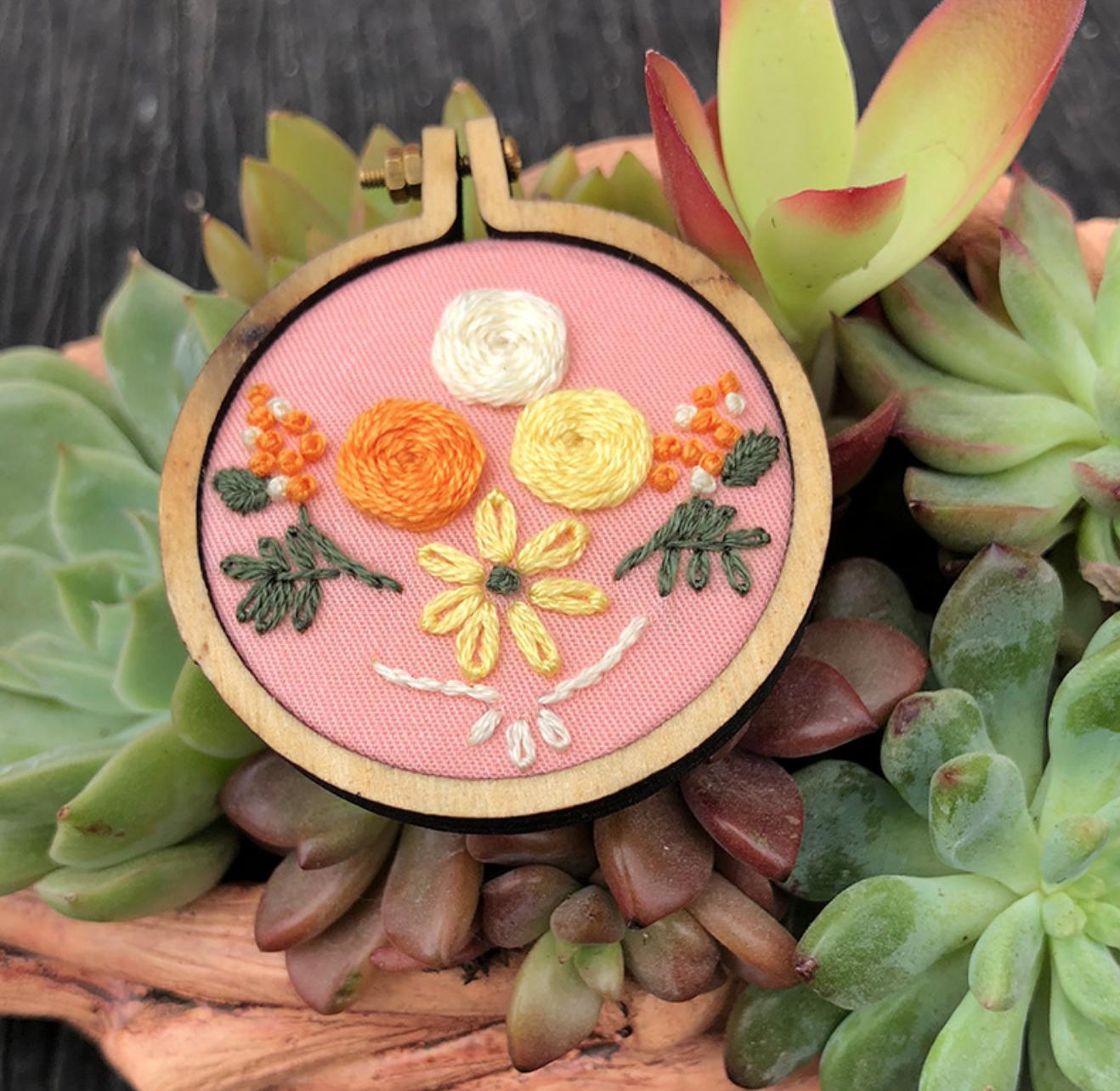 Little Orange Yellow Embroidery