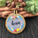 Love Flower Wreath Embroidery