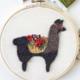 w115 Llama Black Embroidery