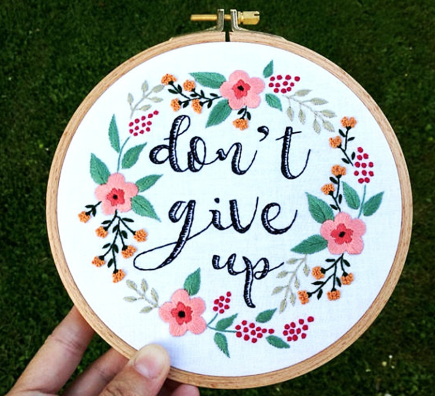Don't give up Embroidery