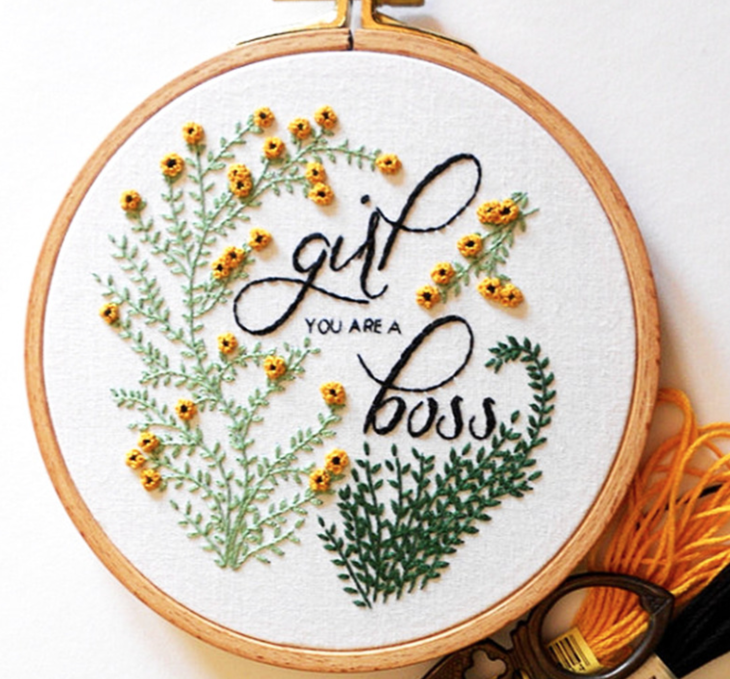 Girl Boss Embroidery