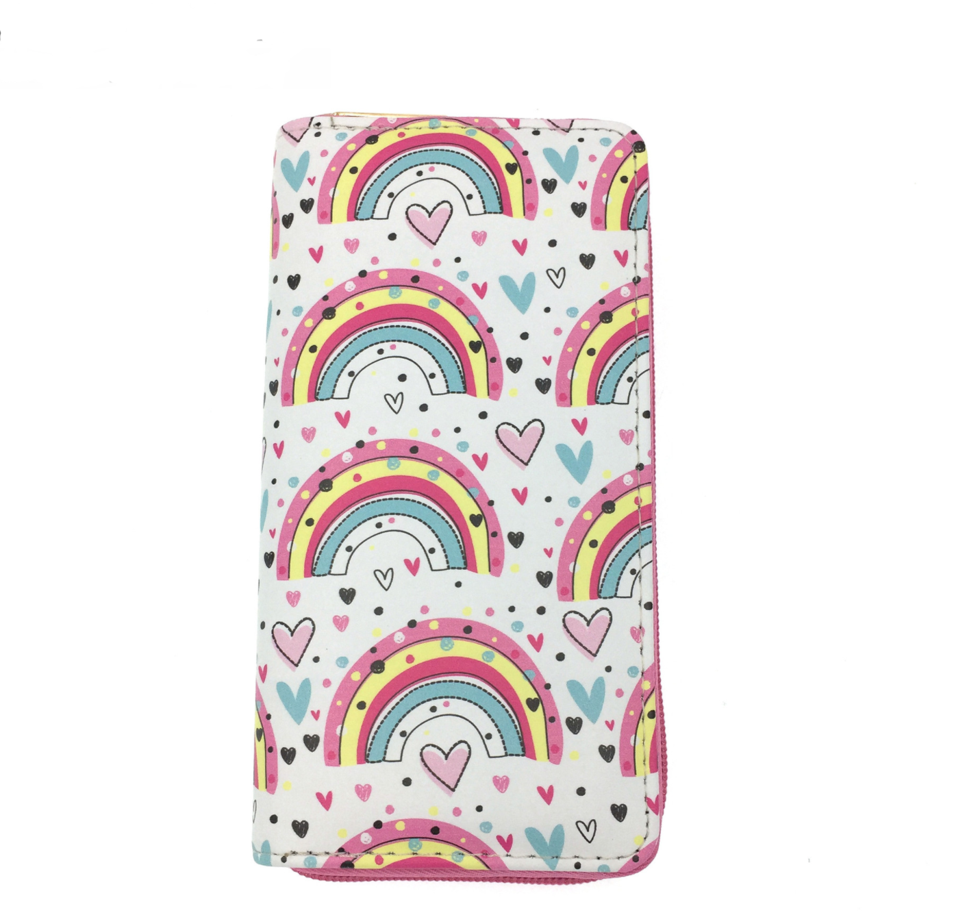 JR-558 Pink Orange Rainbow Wallet