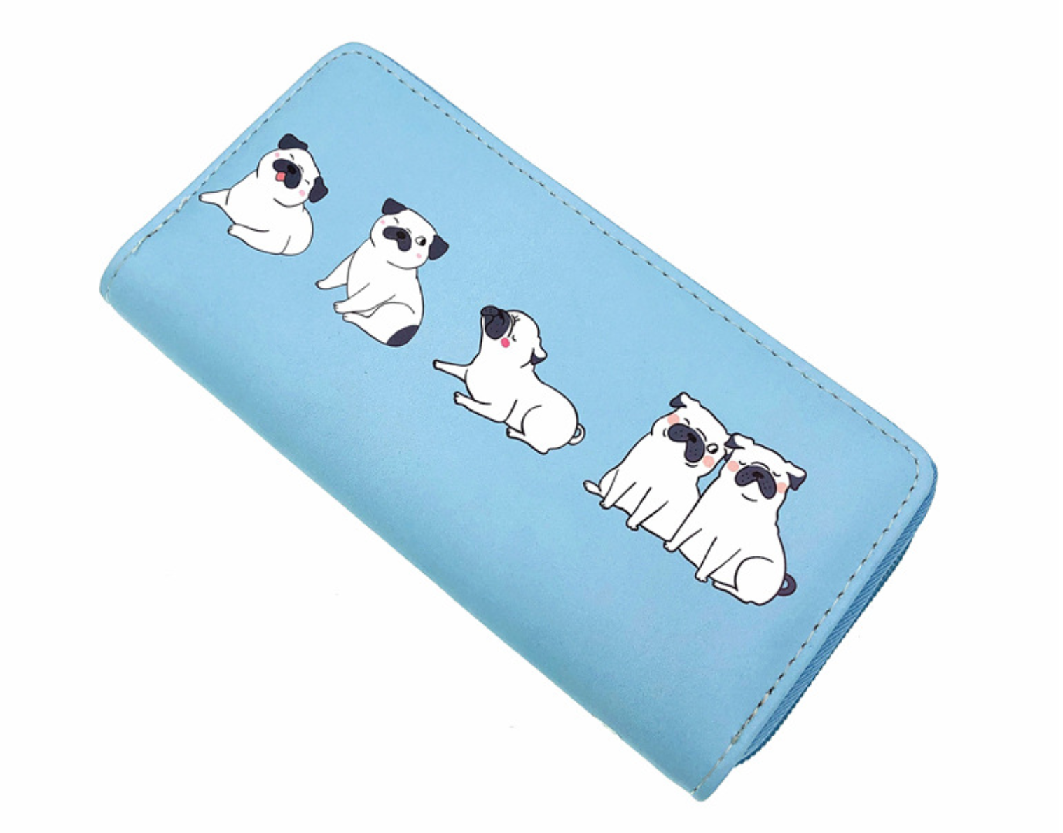 JR-445 Blue Pug Wallet