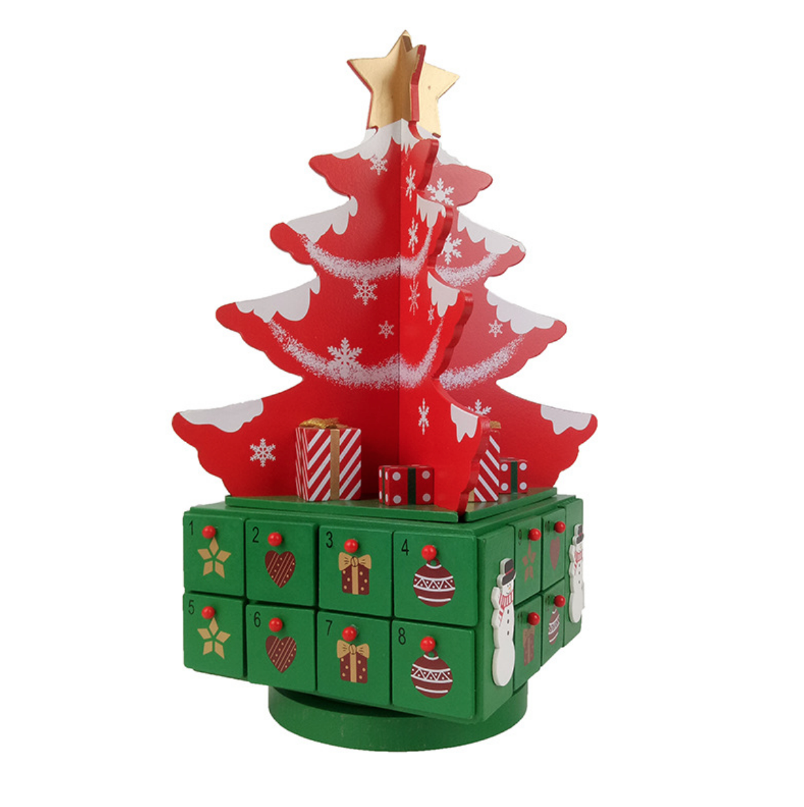 Red Christmas Treet Advent Calender