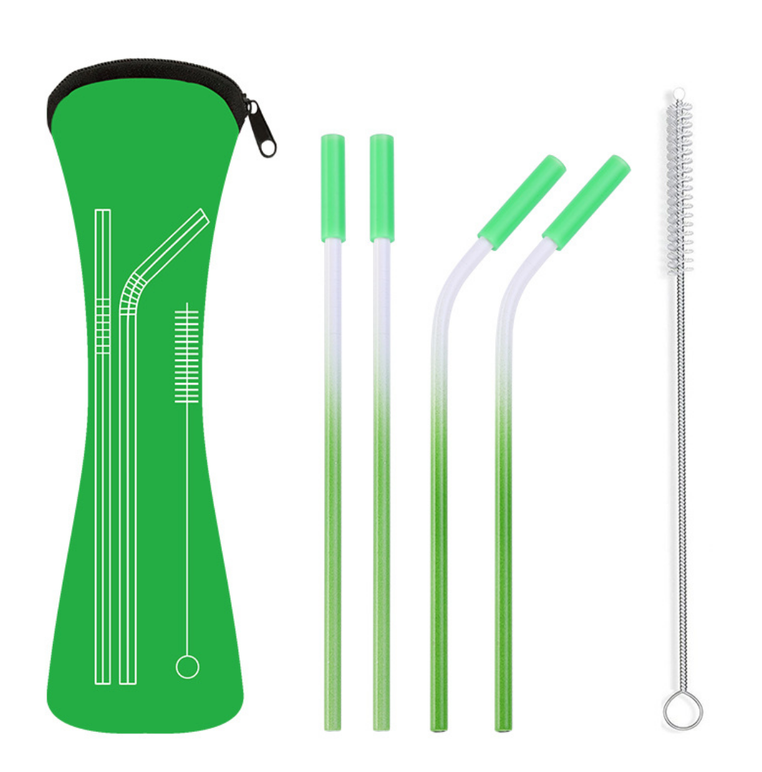Silicon Tipped Full Straw Colored Set