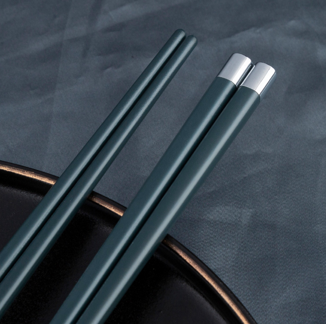 Colorful Steel 5 Chopstick Set
