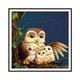 Owl Family DIY Cross Stitch