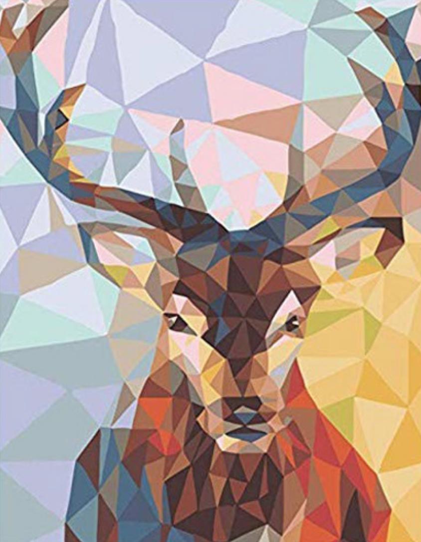 Deer Geometric DIY Dot Painting
