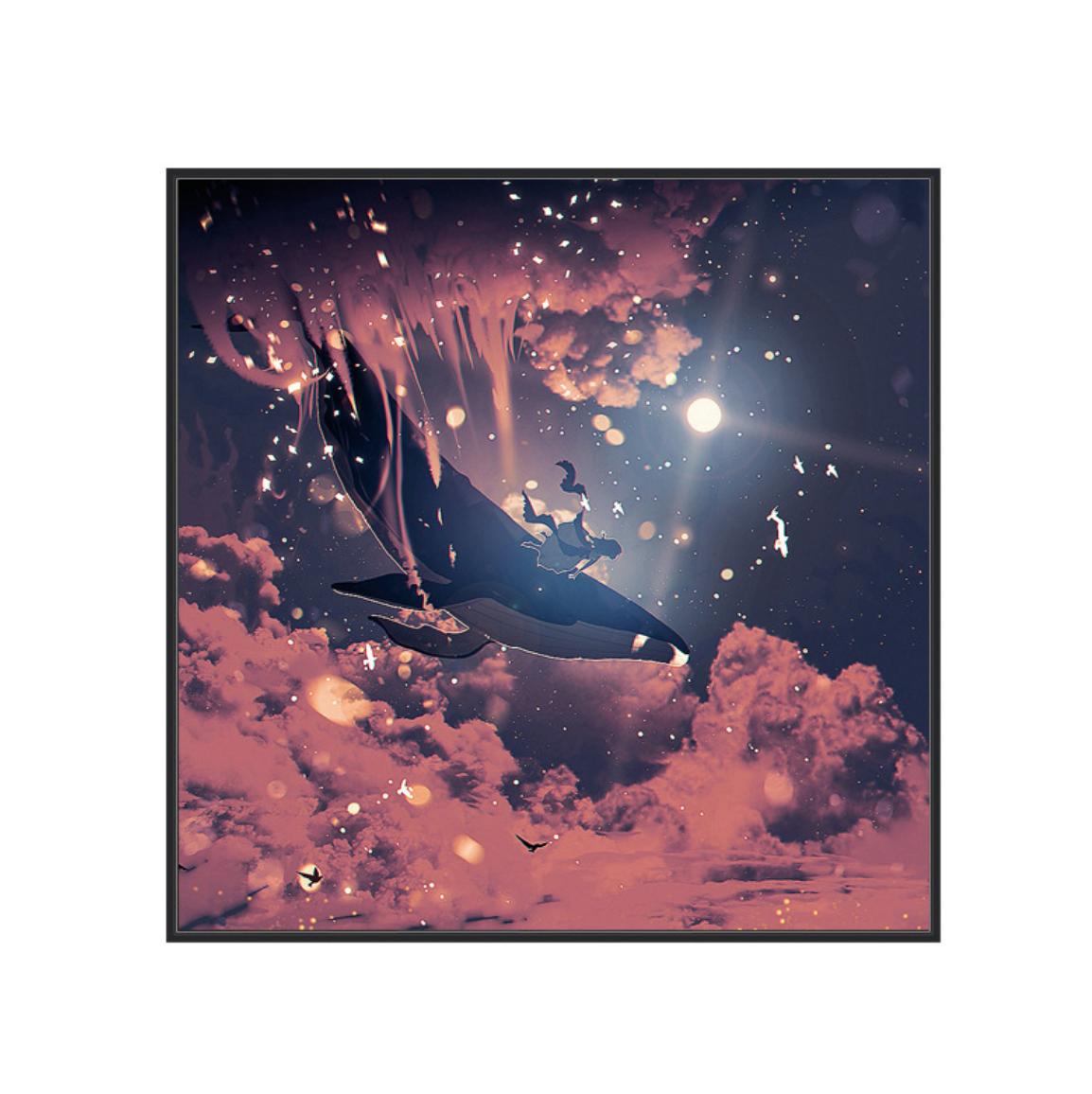 Whale in Clouds Cross Stitch