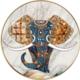 Golden Elephant Cross Stitch
