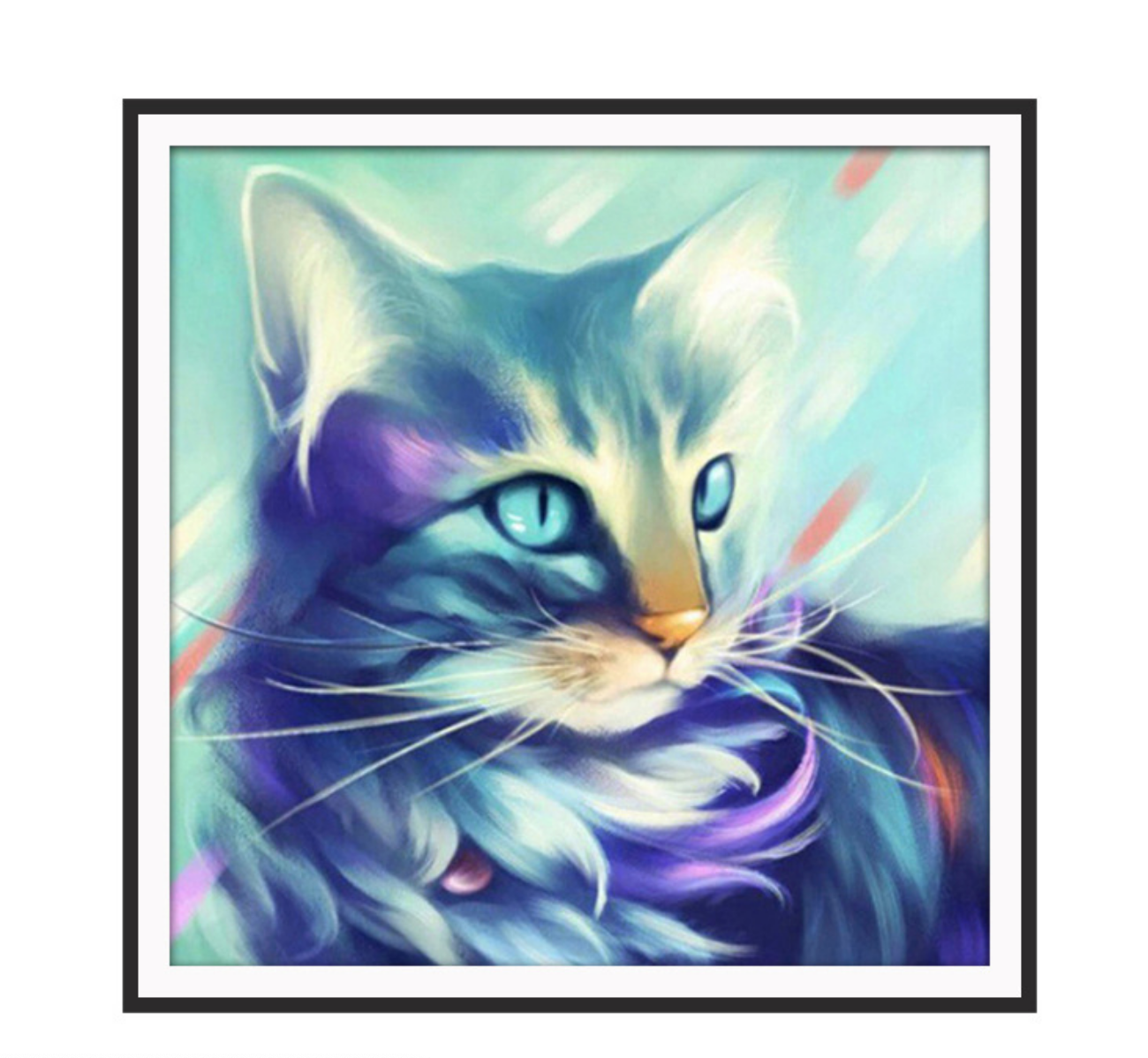 Blue Cat DIY Dot Painting