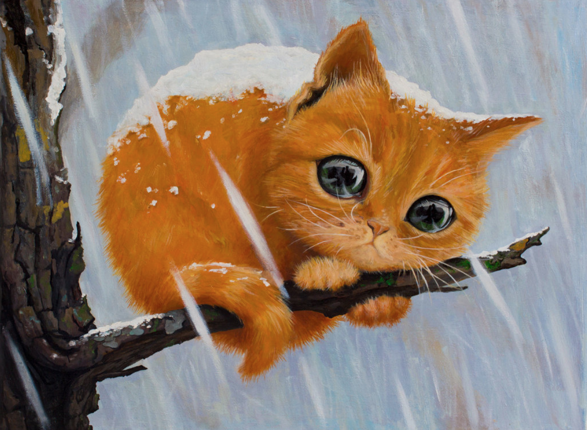 Cold Kitty DIY Dot Painting