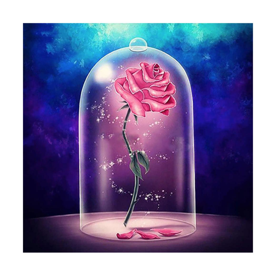 Beauty's Rose DIY Dot Painting