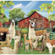 Llama on Farm DIY Dot Painting