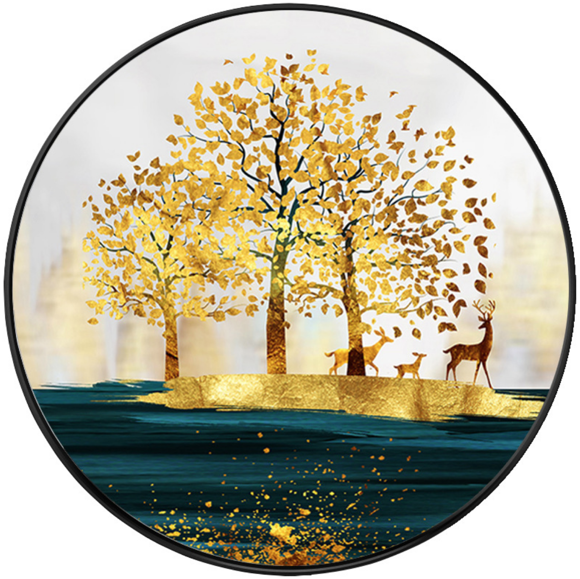 Gold Forest DIY Dot Painting