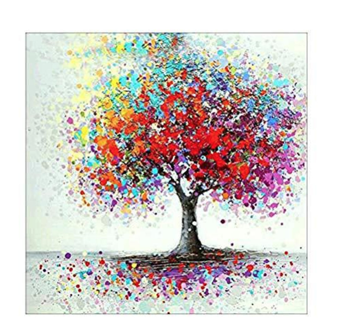 Colorful Trees DIY Dot Painting