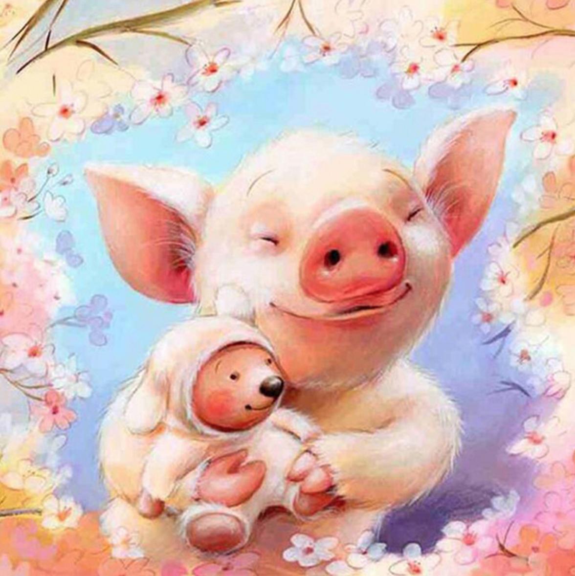 Adorable Pig DIY Dot Painting