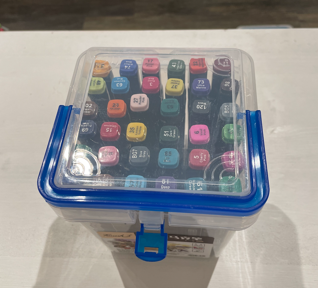 36 Color Marker Plastic Case