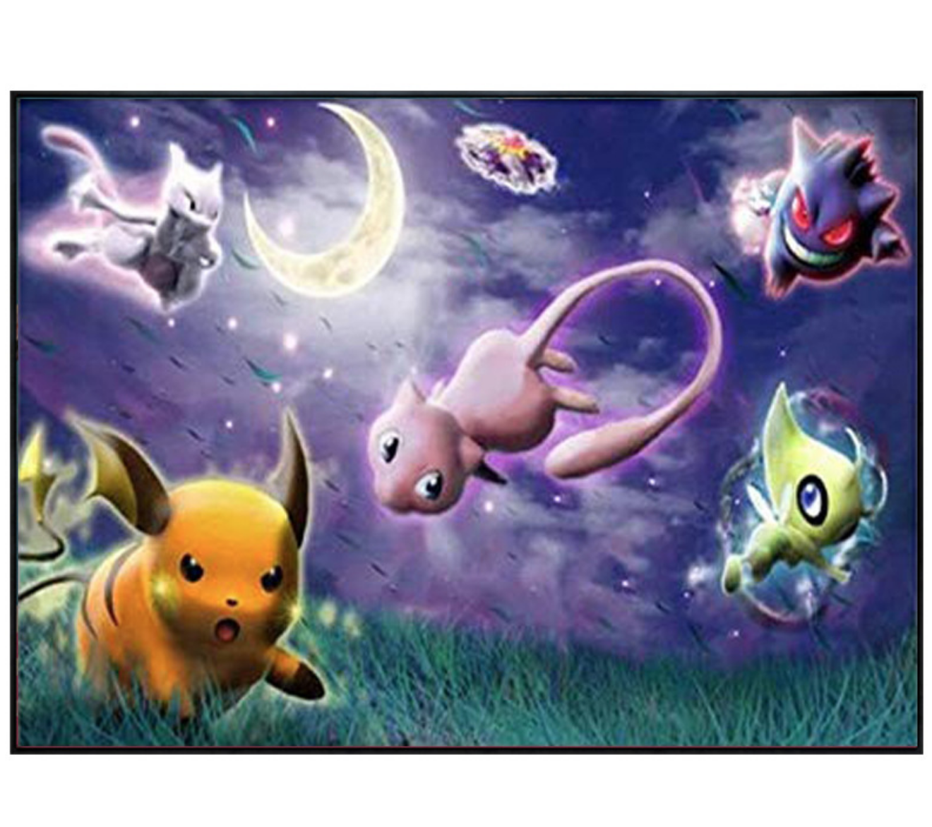 Pokemon in Night DIY Dot Painting