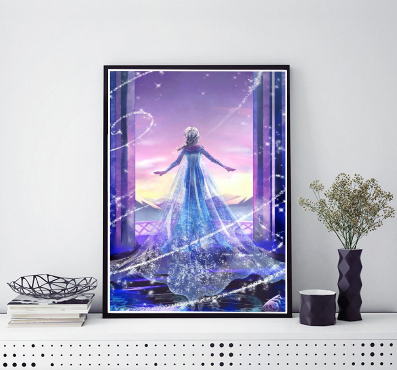 Frozen Elsa DIY Dot Painting