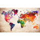 Colorful World Map DIY Dot Painting