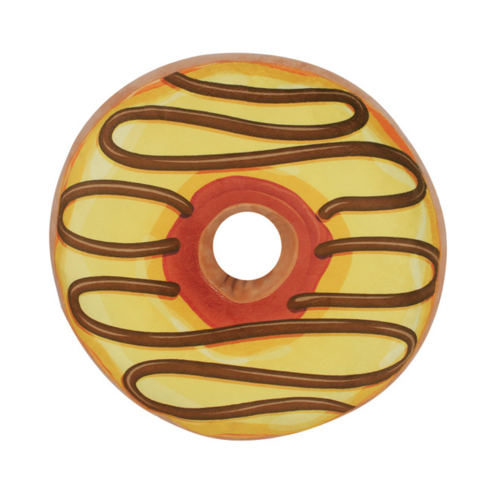 Yellow Swirl Donut Plush Toy