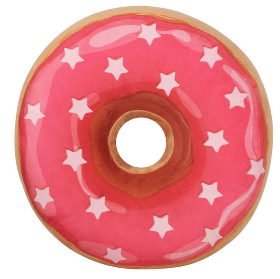 Star Pink Donut Plush Toy