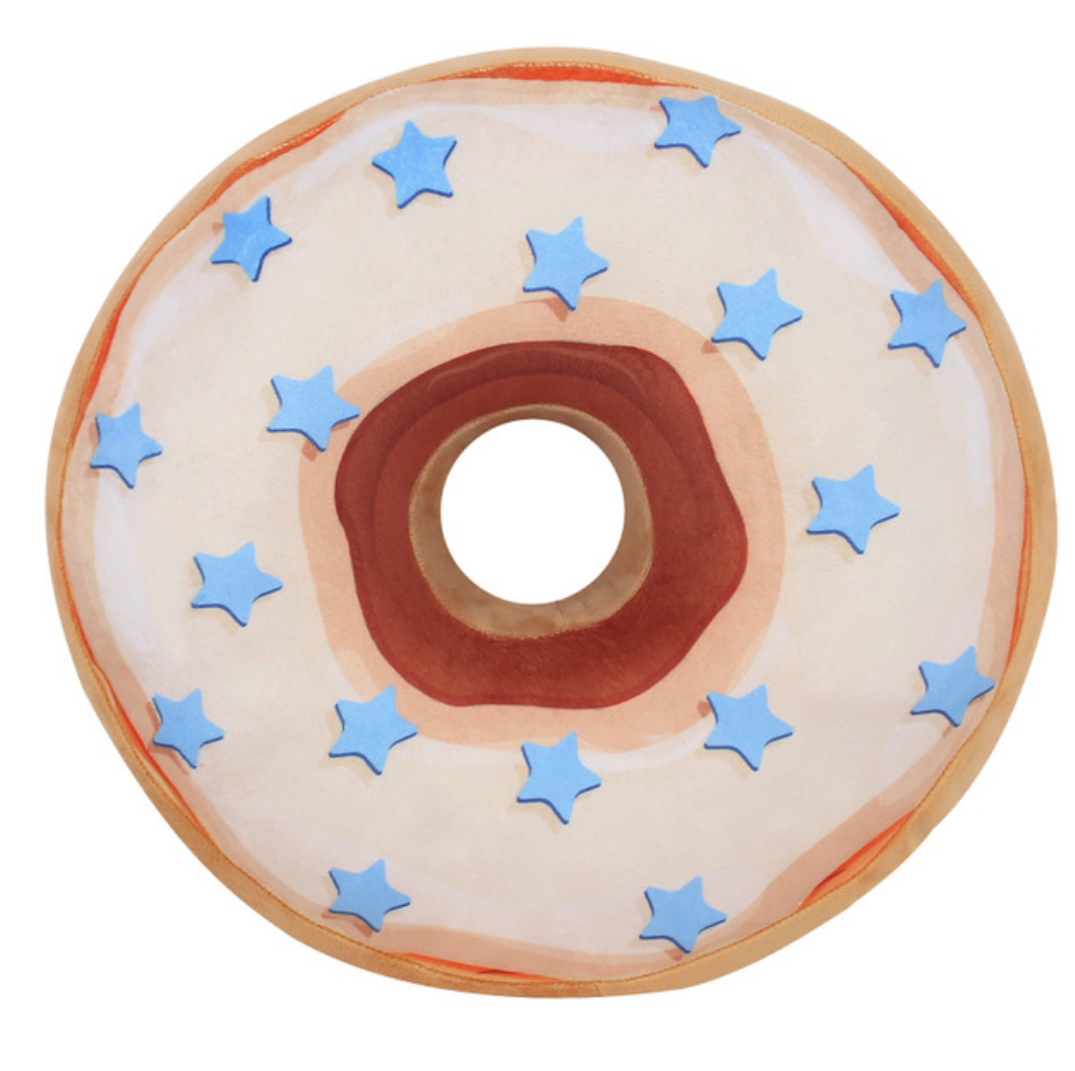 Blue Star Donut Plush Toy