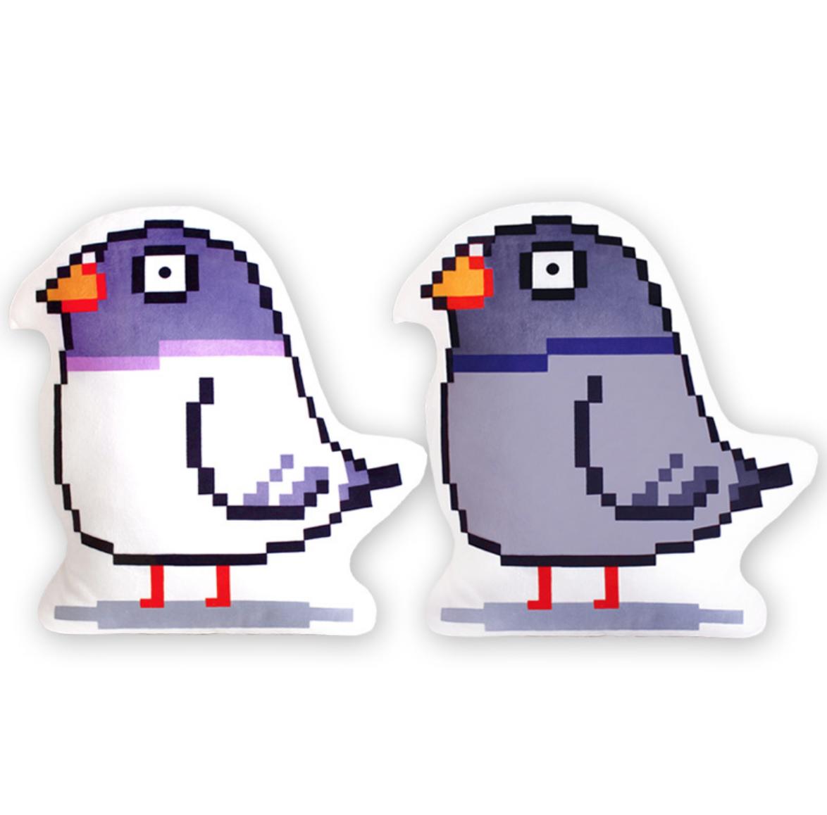 Pixel Bird Pillow Cushion