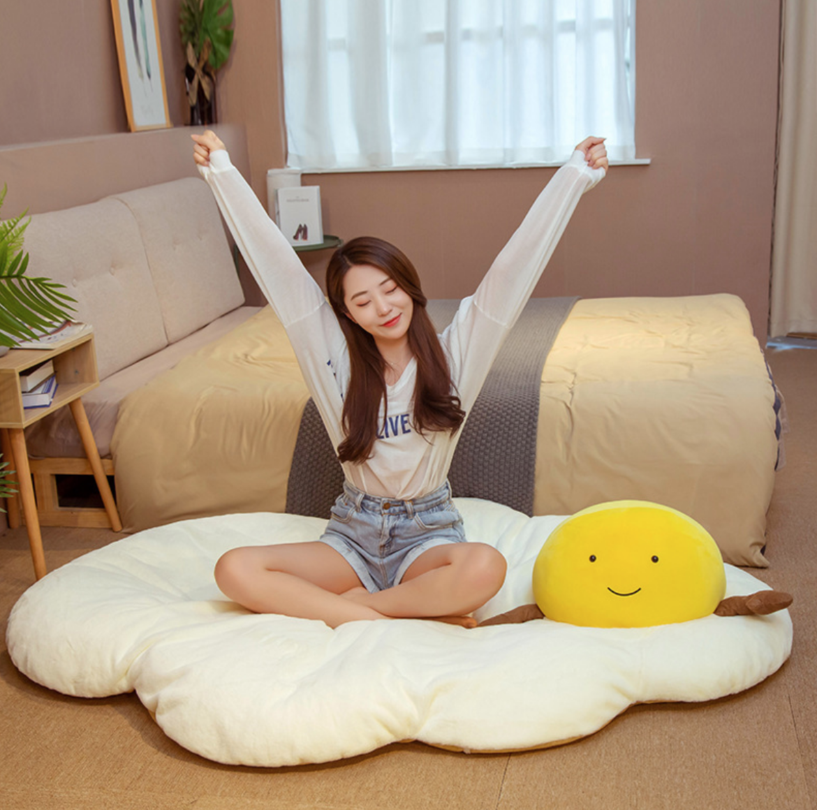 Egg Yolk  Plush Mat