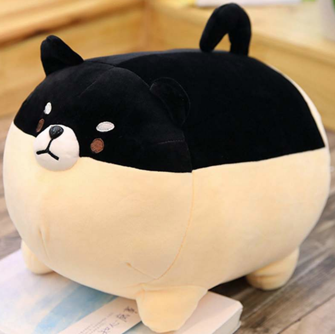 Chubby Shiba Inu Black Plush