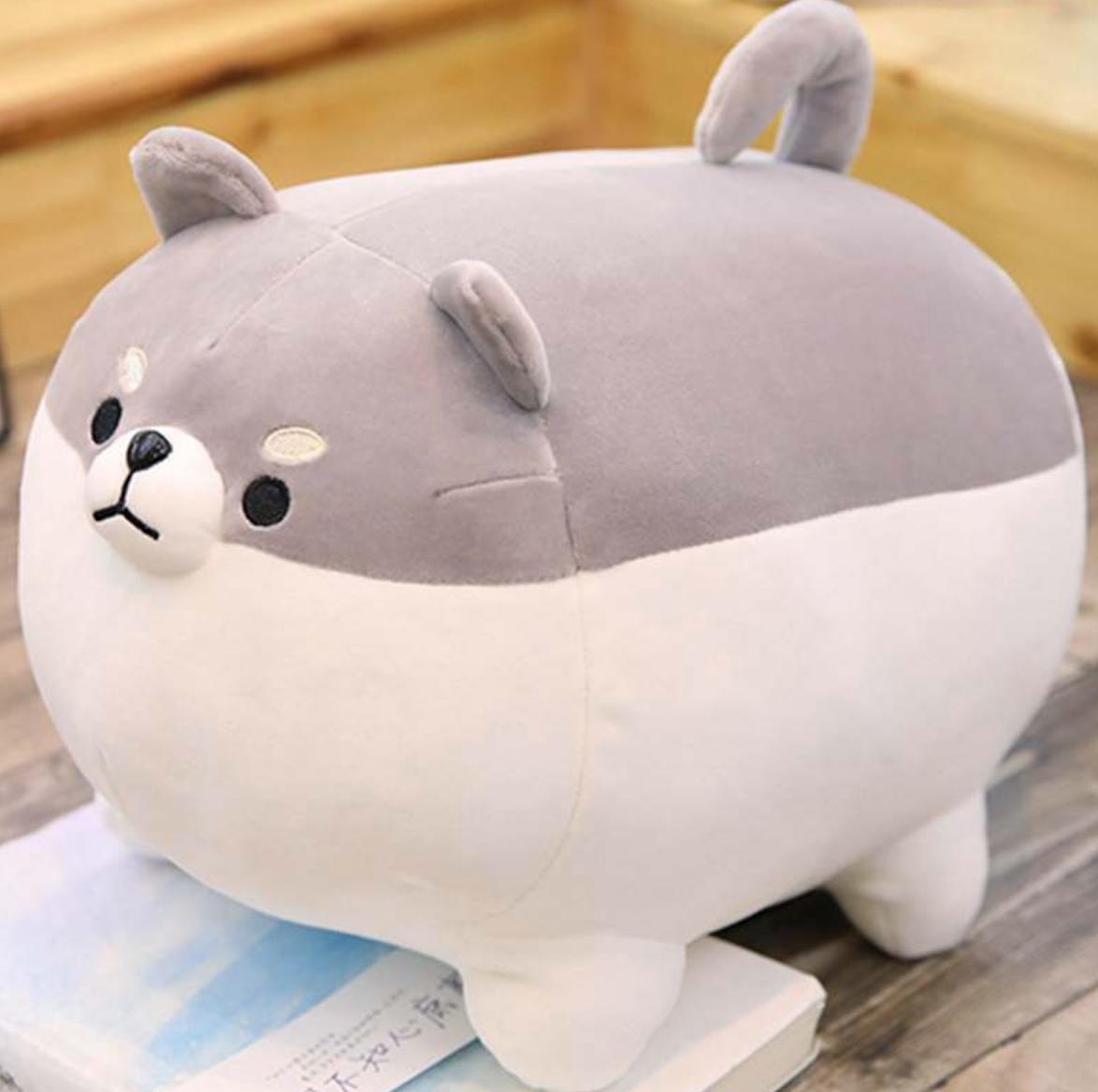 Chubby Shiba Inu Grey Plush