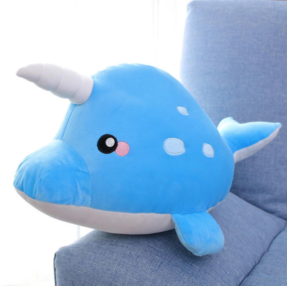 Blue Narwahl Plush