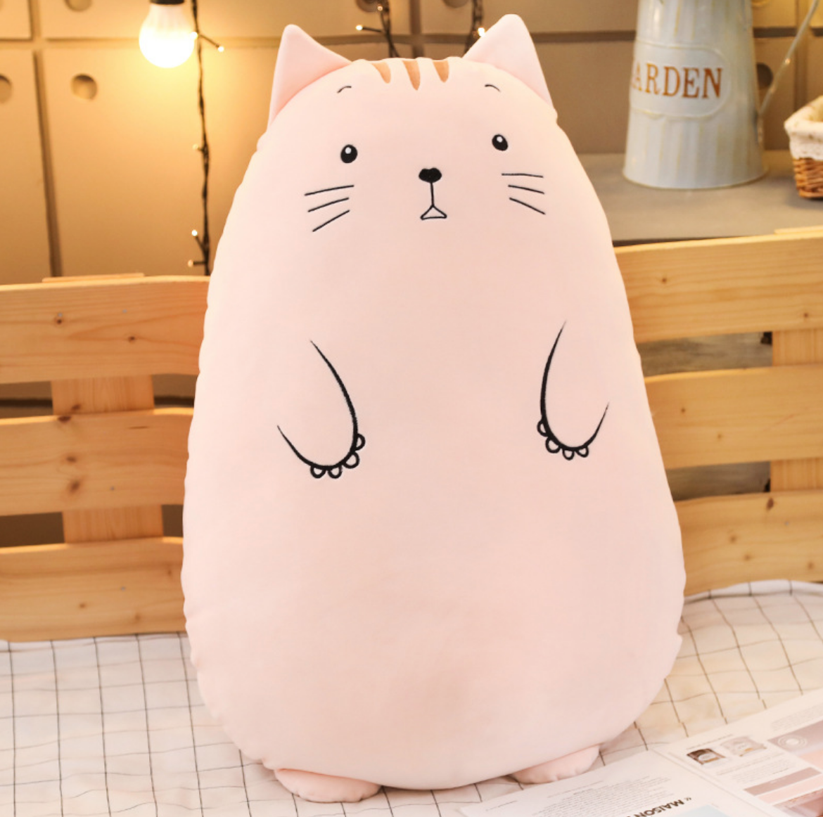 Round Cat Plush Cushion