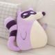 Sideways Purple Raccoon Plush