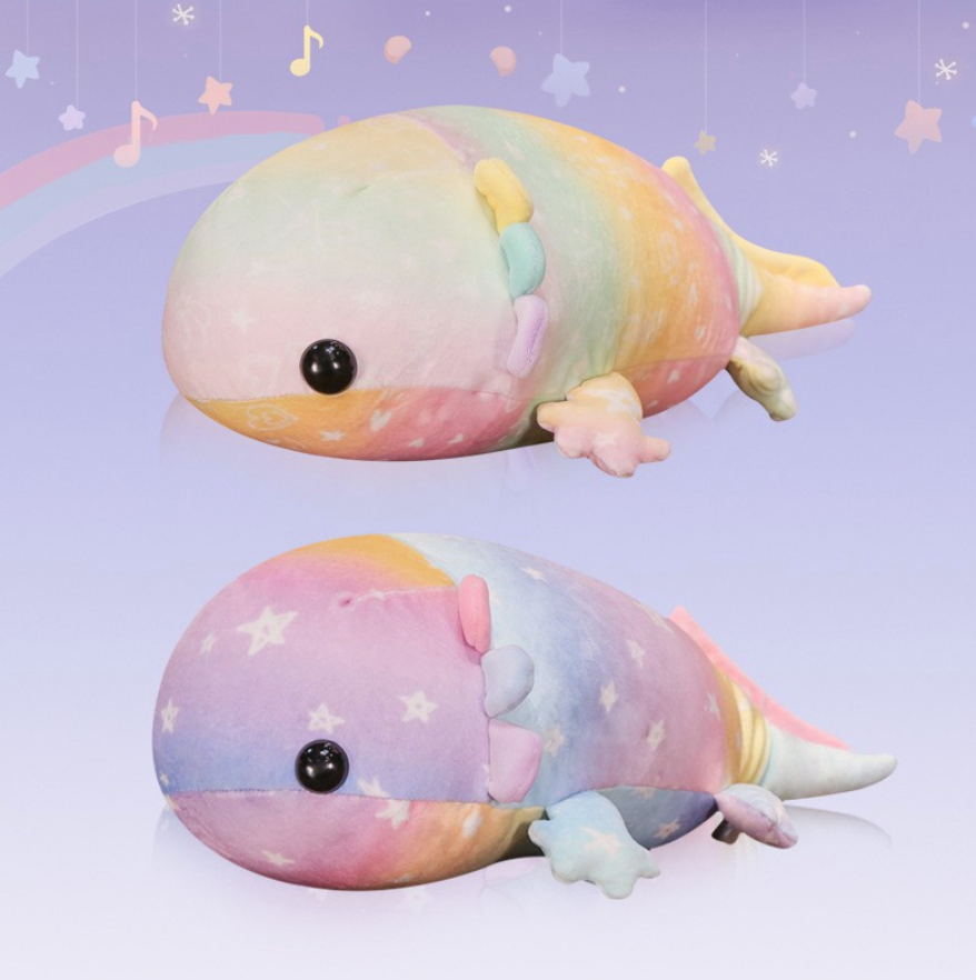 Rainbow Chameleon Plush