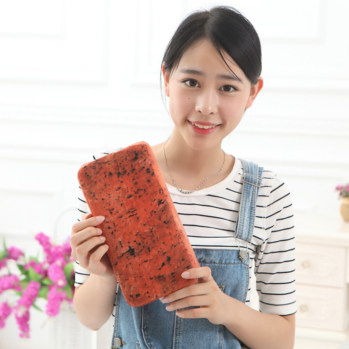 Red Brick Cushion Plush