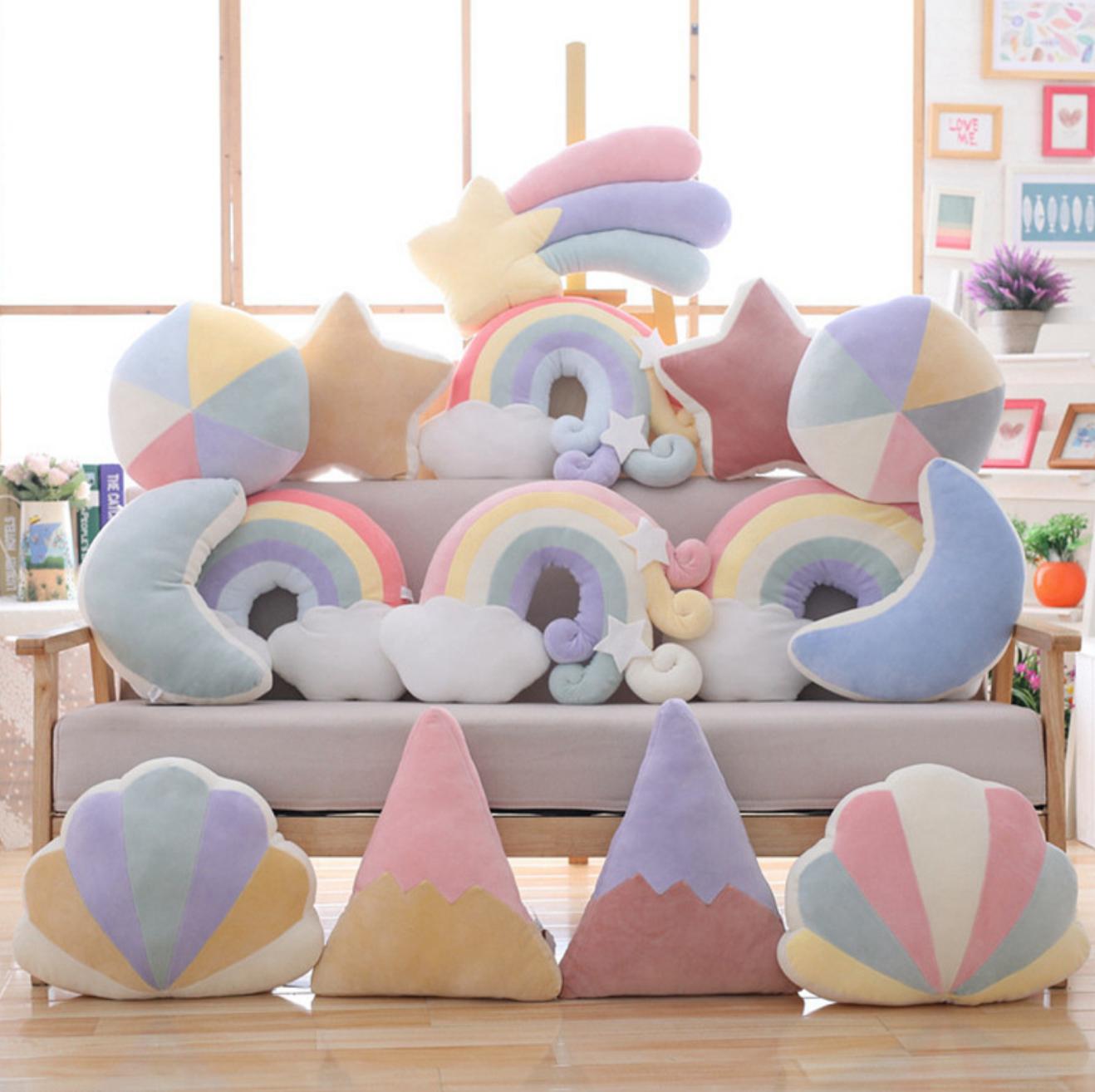 Pink Shell Plush Cushion