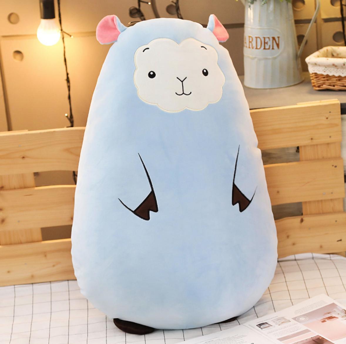 Blue Sheep Plush Cushion
