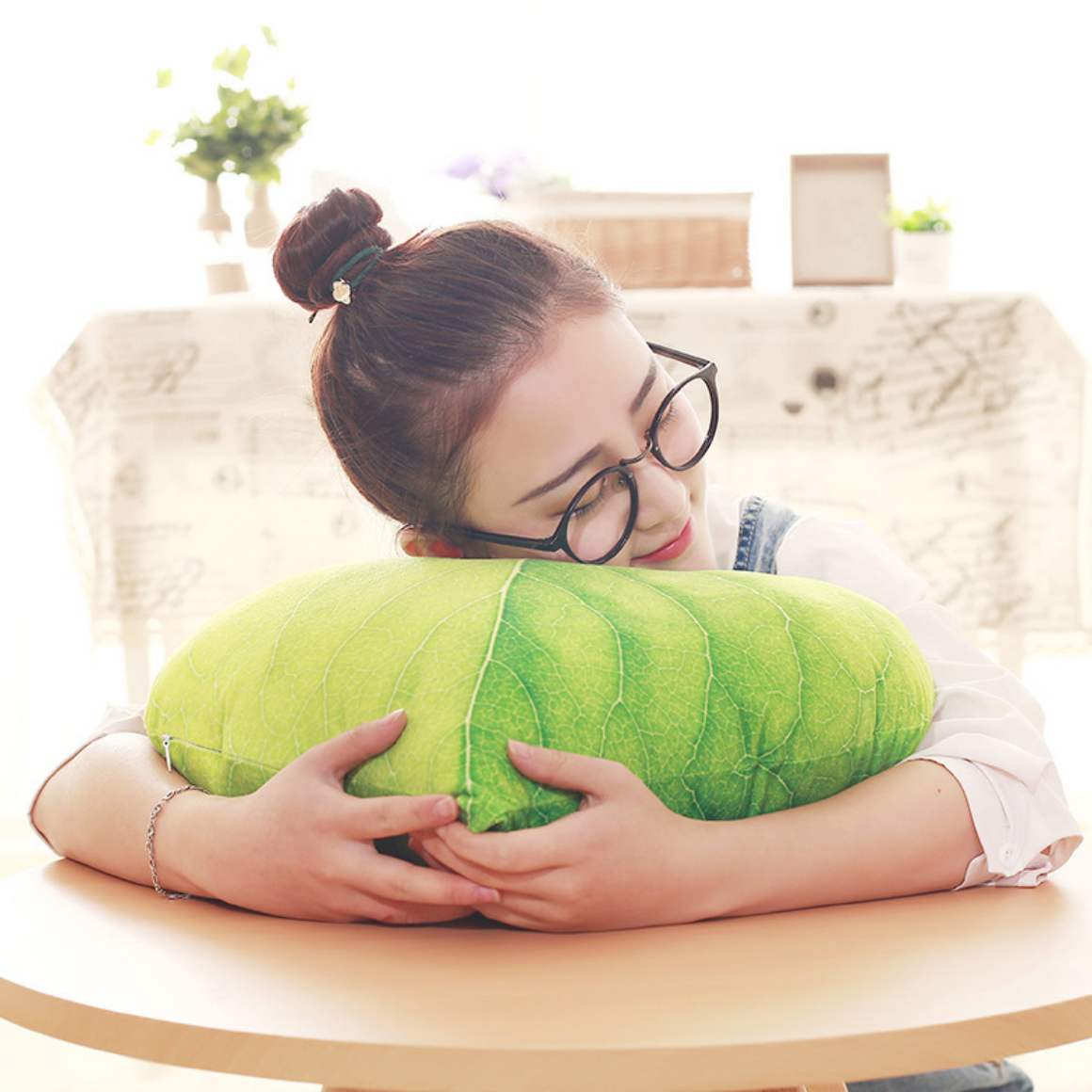 Leaf Cushion Plush