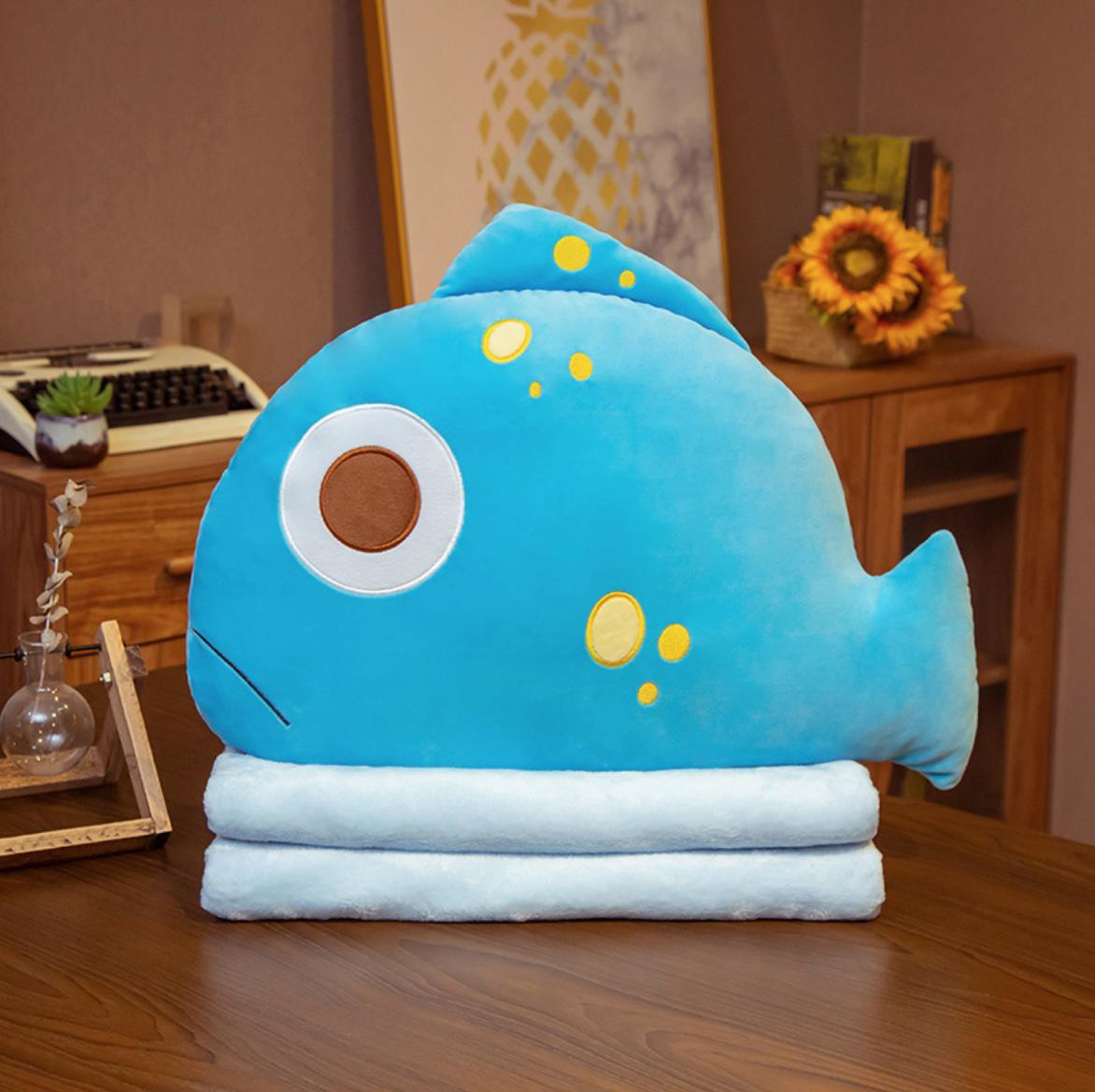 Blue Fish Plush Blanket