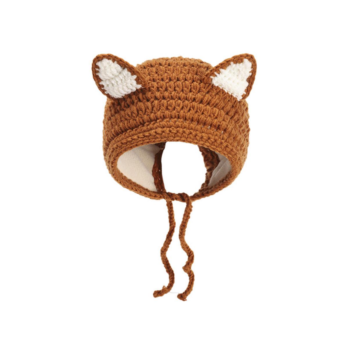 Fox Knit Hat 3-18M