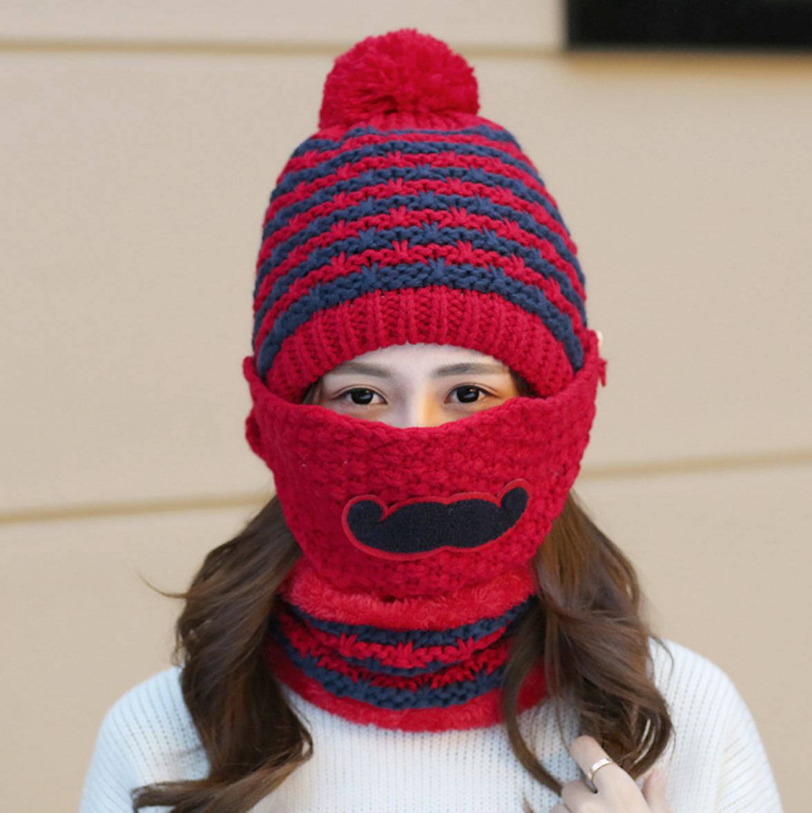 Mustache Hat with Mask