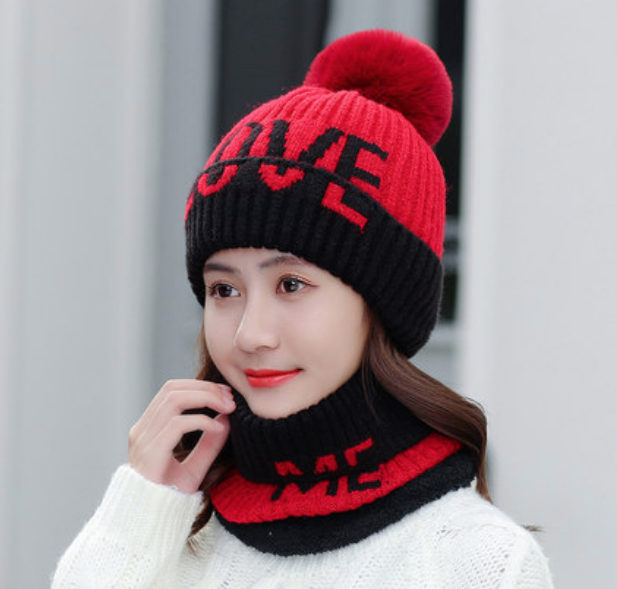 LOVE Knit Hat/Scarf